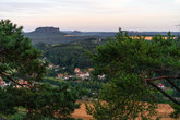 Landscapes of Saxon Switzerland - is the German part of Elbe Sandstone Mountains.