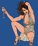 the portraits of the Pin up sexy Erotic line refined comics  Pop-art style