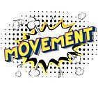 Movement - Comic book style words.