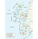 vector map of scottish archipelago hebrides at the north west coast of scotland