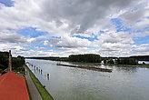 Transport ship on the Rhine