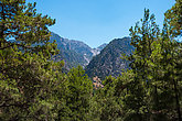 Summer natural views and landscape of the Samaria Gorge. Crete. Greece.