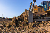 Earthworks Industrial Dozer Machine Bucket Soil