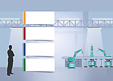 Industrial infographics of four blank paper labels.