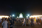 Blurred People Walking in Loi Krathong Festival at Phayao Thailand