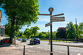 Town signpost showing directions to various places Kendal