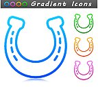 Vector horseshoe symbol icon design